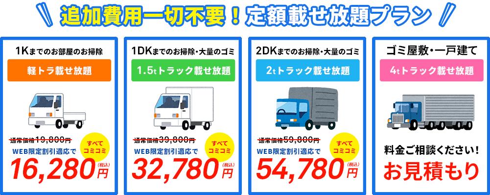 定額の格安トラック積み放題プラン