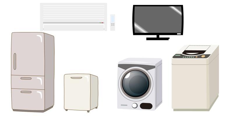 家電リサイクル法に該当する家電製品とは?
