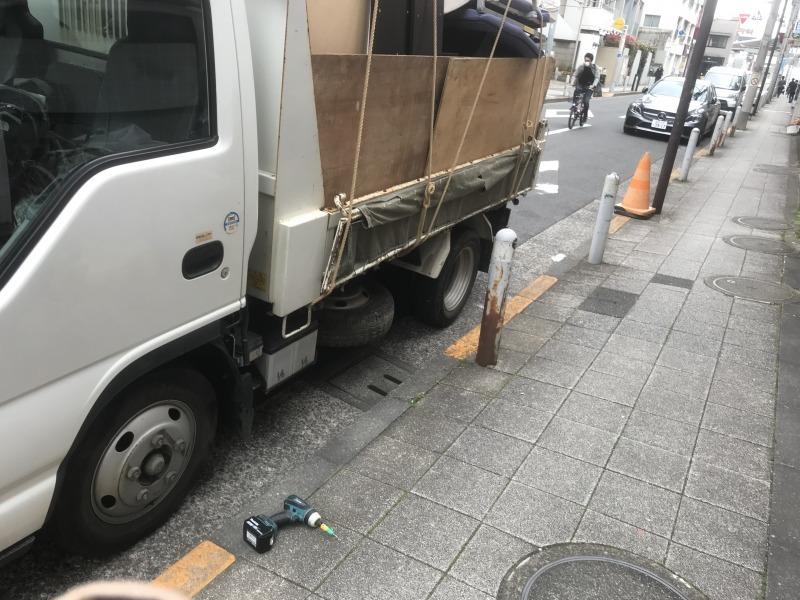 現場レポート世田谷区引越し時の不用品回収トラック