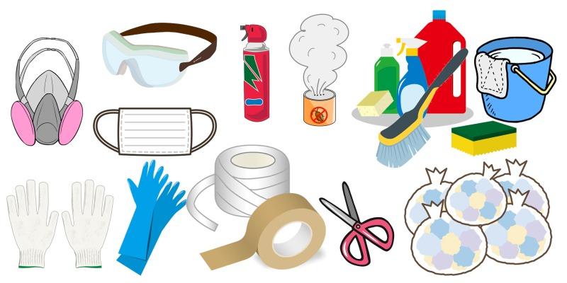 ゴミ屋敷に欠かせない道具の用意