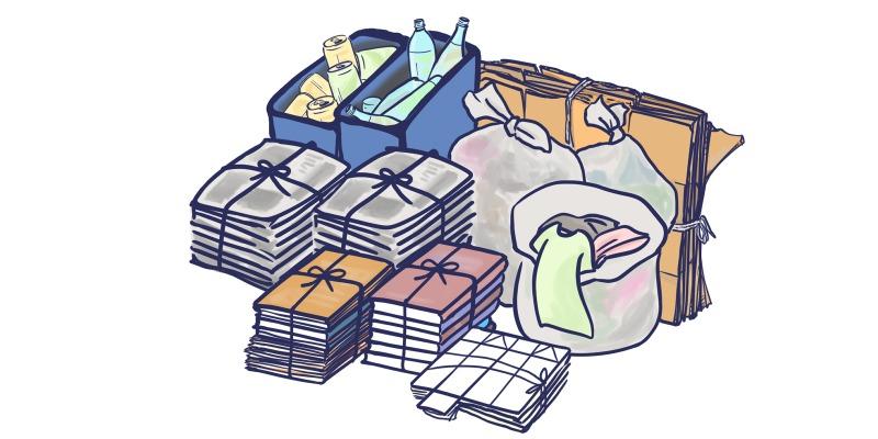 雑誌や衣類が中心