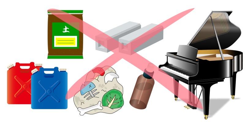 (2)回収できない品目を確認する